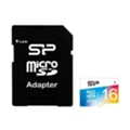 Карты памяти Silicon Power 16 GB microSDHC Class 10 UHS-I Elite Color + SD adapter SP016GBSTHBU1V20-SP