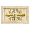 Керамическая плиткаAPE Inserto Rosaura 10x15 gold (501229)