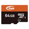 Карты памяти TEAM 64 GB microSDXC UHS-1 + SD Adapter TUSDX64GUHS03