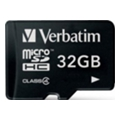 Verbatim 32 GB microSDHC class 4 (44008)