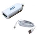 Зарядные устройства для мобильных телефонов и планшетовJust Me2 USB Car Charger (2.4A/12W, 1USB) White + Lightning cable (CCHRGR-M2LGHT-WHT)