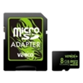 Карты памятиVerico 8 GB microSDHC Class 10 + SD adapter VFE3-08G-V1E