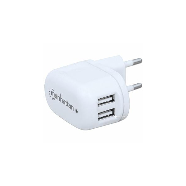 Manhattan 2 USB 2.1 A, White (101745)