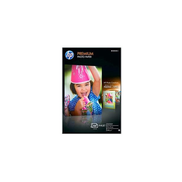 HP Premium Glossy Photo Paper-100 plus tab (Q8032A)