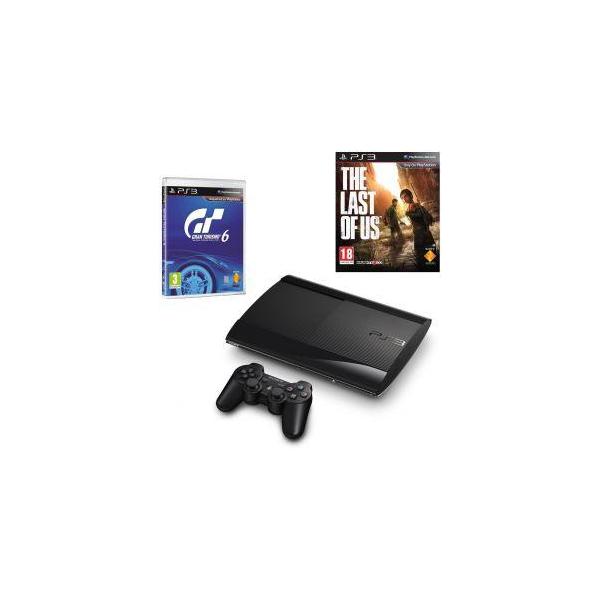 Sony PlayStation 3 Super Slim 500 GB + Gran Turismo + The Last of Us