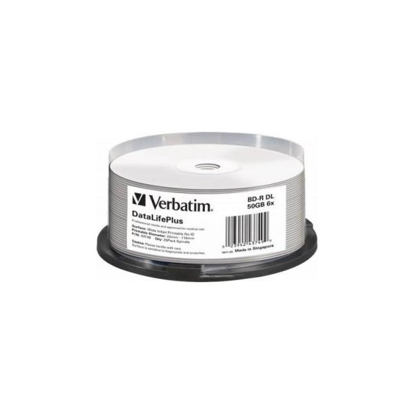 Verbatim BD-R DL Printable 50GB 6x Spindle Packaging 25шт (43749)