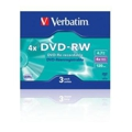 Verbatim DVD-RW 4,7GB 4x Slim Case 3шт (43635)