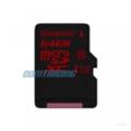 Карты памятиKingston 64 GB microSDXC class 10 UHS-I U3 + SD Adapter SDCA3/64GB