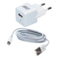 Зарядные устройства для мобильных телефонов и планшетовJust Atom USB Wall Charger (1A/5W, 1USB) White (WCHRGR-TMLGHT-WHT)