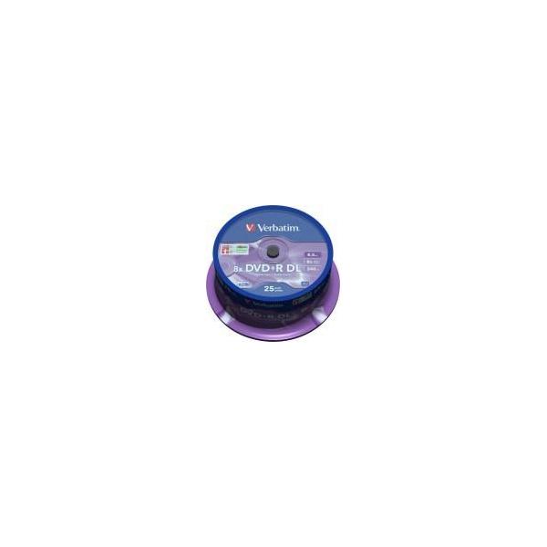 Verbatim DVD+R DL 8,5GB 8x Spindle Packaging 25шт (43757)