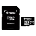 Карты памятиPretec 16 GB microSDHC Class 6 + SD Adapter (STC16G-SA)