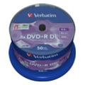 Диски CD, DVD, Blu-ray Verbatim DVD+R DL 8,5GB 8x Spindle Packaging 50шт (43758)