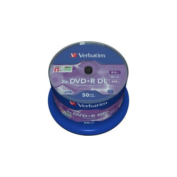 Verbatim DVD+R DL 8,5GB 8x Spindle Packaging 50шт (43758)