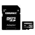 Карты памятиKingmax 8 GB microSDHC Class 10 + SD Adapter KM08GMCSDHC101A