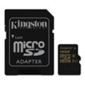 Карты памятиKingston 16 GB microSDHC class 10 UHS-I + SD Adapter SDCA10/16GB