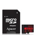 Карты памятиApacer 16 GB microSDHC Class 10 UHS-I R85 + SD adapter AP16GMCSH10U5-R