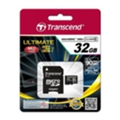 Карты памяти Transcend 32 GB microSDHC class 10 UHS-I Ultimate + SD Adapter TS32GUSDHC10U1