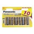 Panasonic AA bat Alkaline 10шт Alkaline Power (LR6REB/10BW)