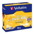 Verbatim Mini DVD+RW 1,4GB 4x Jewel Case 5шт (43565)