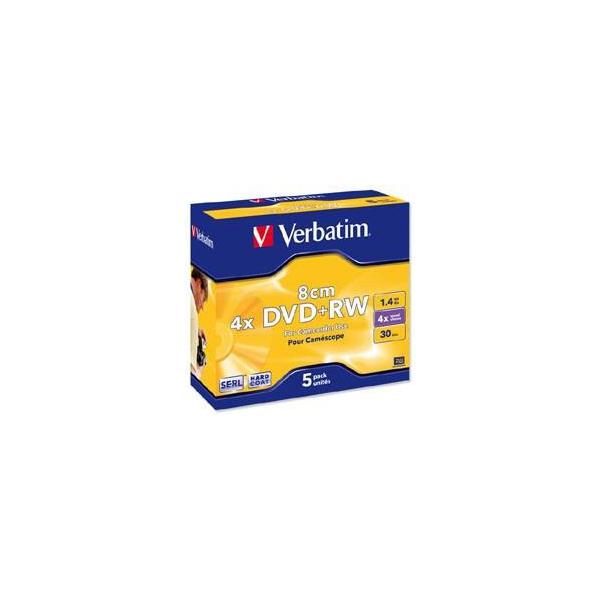 Verbatim Mini DVD+RW 1,4GB 4x Jewel Case 5шт (43565)