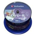 Verbatim DVD+R Printable 4,7GB 16x Spindle Packaging 50шт (43651)