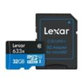 Карты памятиLexar 32 GB microSDHC 633x UHS-I + SD-adapter LSDMI32GBBEU633A