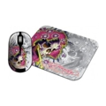Клавиатуры, мыши, комплекты Ed Hardy Wireless mouse+pad Ghost White USB