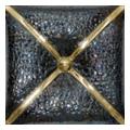 Unicer Cushion 20x20 metal negro oro