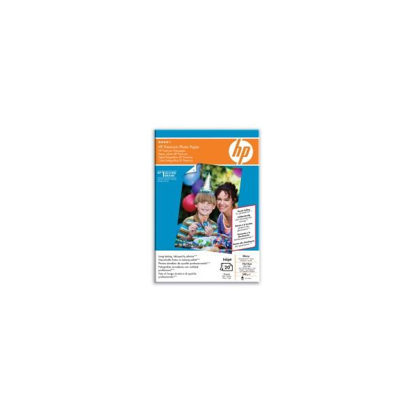 HP Premium Glossy Photo Paper-20 (Q1991A)