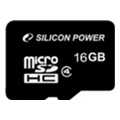Карты памяти Silicon Power 16 GB microSDHC Class 4 SP016GBSTH004V10