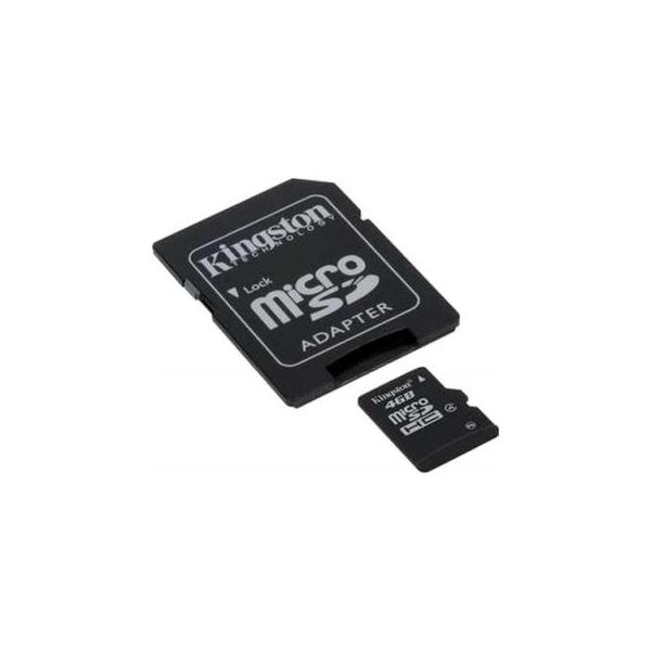 Kingston 4 GB microSDHC class 4 + SD Adapter SDC4/4GB