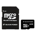 Карты памяти Silicon Power 32 GB microSDHC Class 4 SP032GBSTH004V10