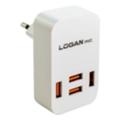 Зарядные устройства для мобильных телефонов и планшетовLogan Dual USB Wall Charger 5V 2A CH-2 White