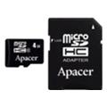 Карты памятиApacer 8 GB microSD Class 4 + SD adapter AP8GMCSH4-R