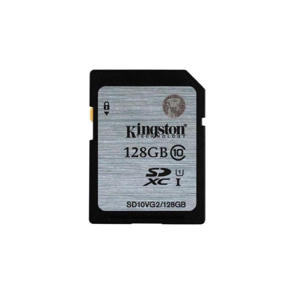 Kingston 128 GB SDXC Class 10 UHS-I SD10VG2/128GB