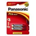 Аккумуляторы, батарейкиPanasonic AAA bat Alkaline 2шт Pro Power (LR03XEG/2BP)