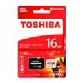 Карты памятиToshiba 16 GB microSDHC Class 10 UHS-I Exceria + SD adapter (THN-M302R0160EA)