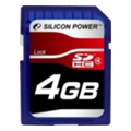 Карты памяти Silicon Power 4 GB SDHC Class 4 SP004GBSDH004V10