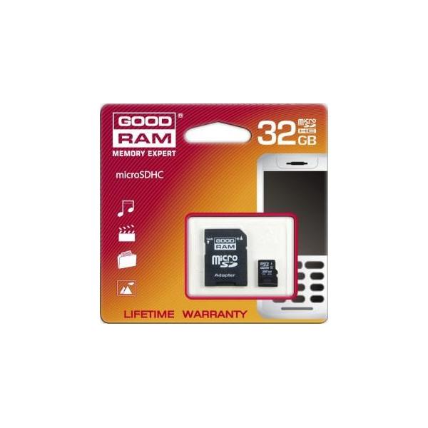 GoodRAM 32 GB microSDHC class 4 + SD Adapter SDU32GHCAGRR10