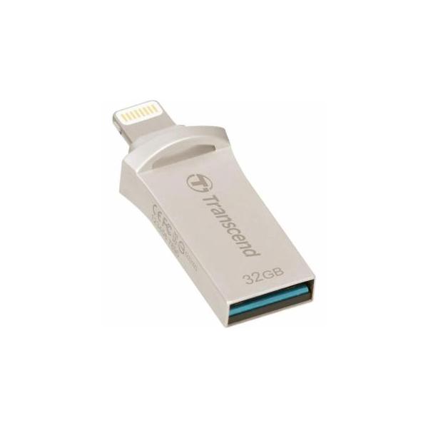 Transcend 32 GB USB 3.1/Lightning JetDrive Go 500 Silver (TS32GJDG500S)
