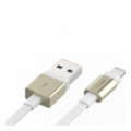 Аксессуары для планшетов Innerexile Zynk Flat USB Cable with Lightning Connector Gold/White 10cm (LC-001-002)