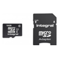 Карты памяти Integral 16 GB microSDHC Class 10 Ultima Pro + SD adapter INMSDH16G10-40U1