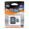 Карты памяти TEAM 8 GB microSDHC Class 4 + SD Adapter TUSDH8GCL403
