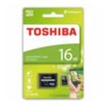 Карты памятиToshiba 16 GB microSDHC class 4 + SD adapter THN-M102K0160M2
