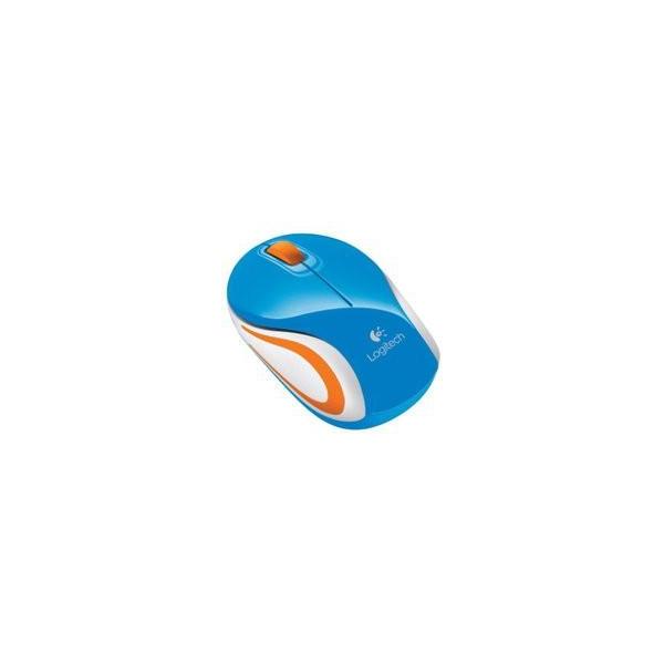 Logitech Wireless Mini Mouse M187 Blue-Orange USB