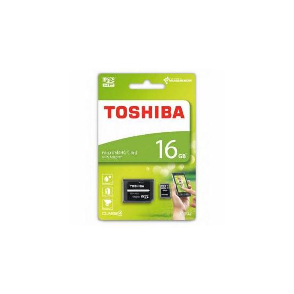 Toshiba 16 GB microSDHC class 4 + SD adapter THN-M102K0160M2