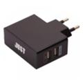 Зарядные устройства для мобильных телефонов и планшетовJust Thunder Dual USB Wall Charger (2.1A/10W, 2USB) Black (WCHRGR-THNDR-BLCK)
