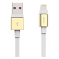 Аксессуары для планшетов Innerexile Zynk Flat USB Cable with Lightning Connector Gold/White 1m (LC-004-002)