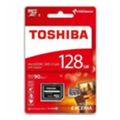 Карты памятиToshiba 128 GB microSDXC Class 10 UHS-I U3 Exceria + SD adapter THN-M302R1280EA
