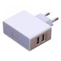Зарядные устройства для мобильных телефонов и планшетовJust Thunder Dual USB Wall Charger (2.1A/10W, 2USB) White (WCHRGR-THNDR-WHT)